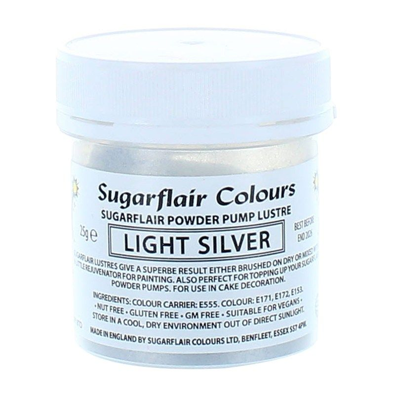 Sugarflair Powder Lustre 25g - Gold and Silver Colours