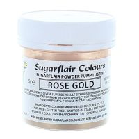 Sugarflair Powder Lustre 25g - Rose Gold, Finishing Sparkle and pale colours