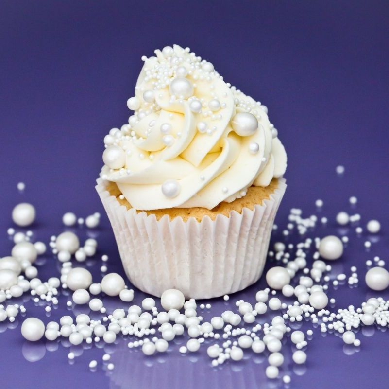 Purple Cupcakes - Pearls Sprinkle Blend 90g - Shimmer Pearl BRIDAL Mix