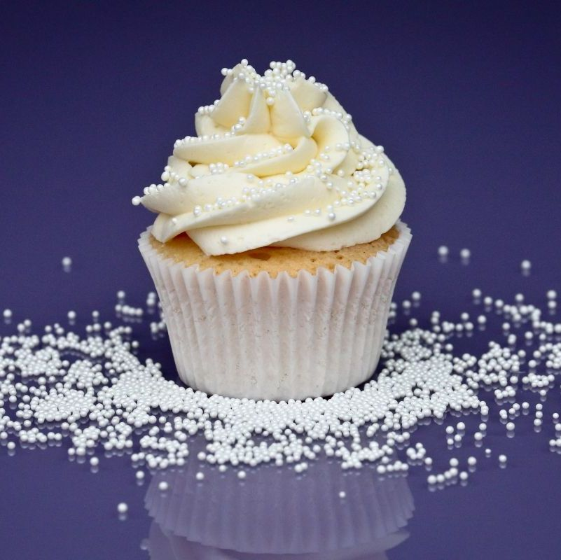 Purple Cupcakes - 2mm Non Pareils 90g - Shimmer Pearl