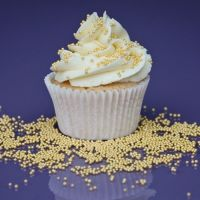 Purple Cupcakes - 2mm Non Pareils 90g - Shimmer Light Gold