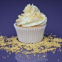 Purple Cupcakes - 2mm Non Pareils 90g - Shimmer Light Gold (V)