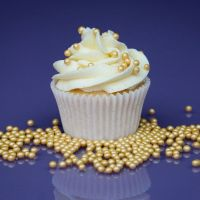 Purple Cupcakes - 4mm Pearls 80g - Shimmer Light Gold