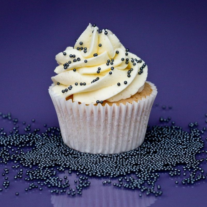 Purple Cupcakes - 2mm Non Pareils 90g - Shimmer Pewter