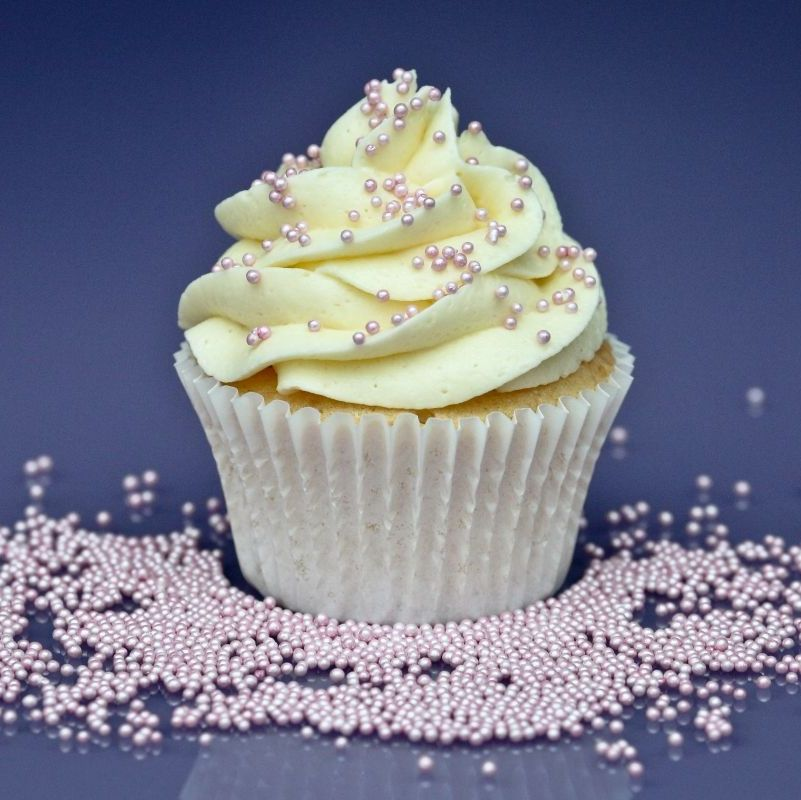 Purple Cupcakes - 2mm Non Pareils 90g - Shimmer Fairy Pink