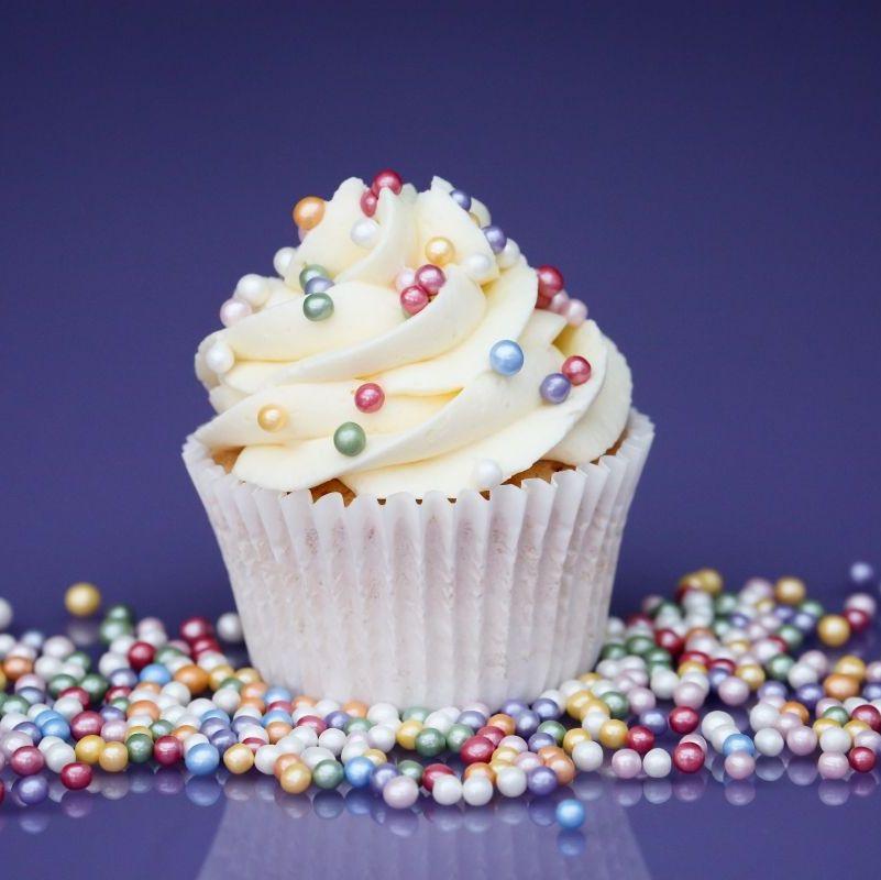Purple Cupcakes - 4mm Pearls 80g - Shimmer Rainbow