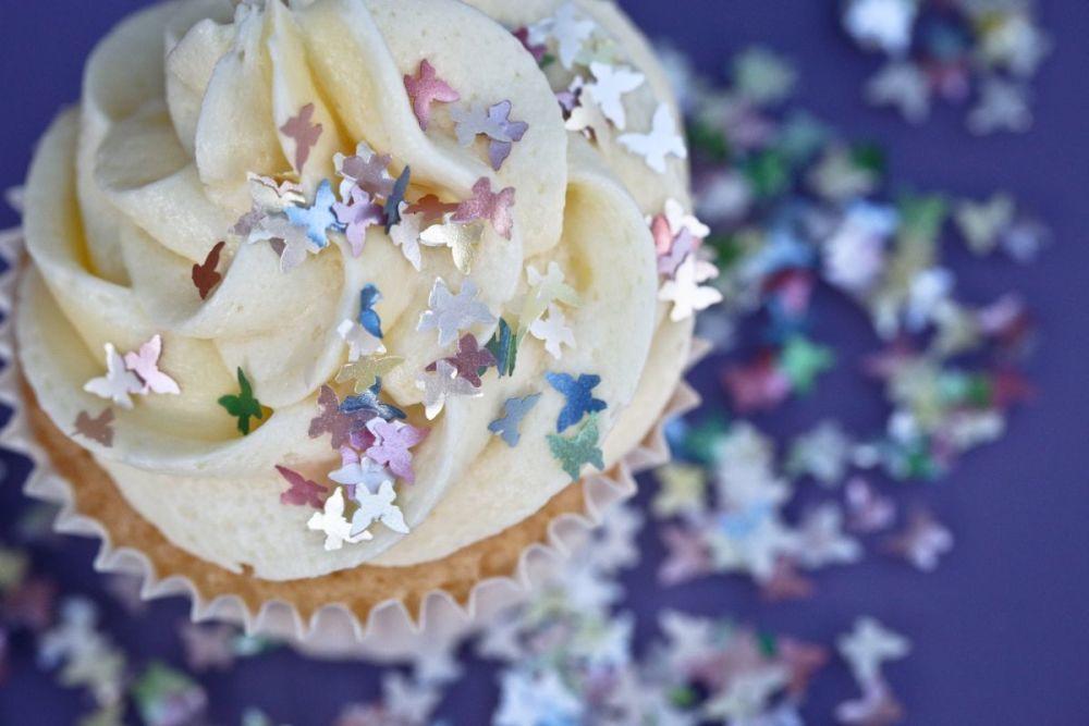 Purple Cupcakes - Sparkle Flakes 1g - Rainbow Butterflies