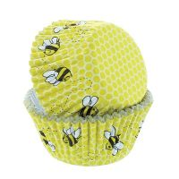 Cupcake Cases - Baked with Love Honeycomb & Bee Pack 50