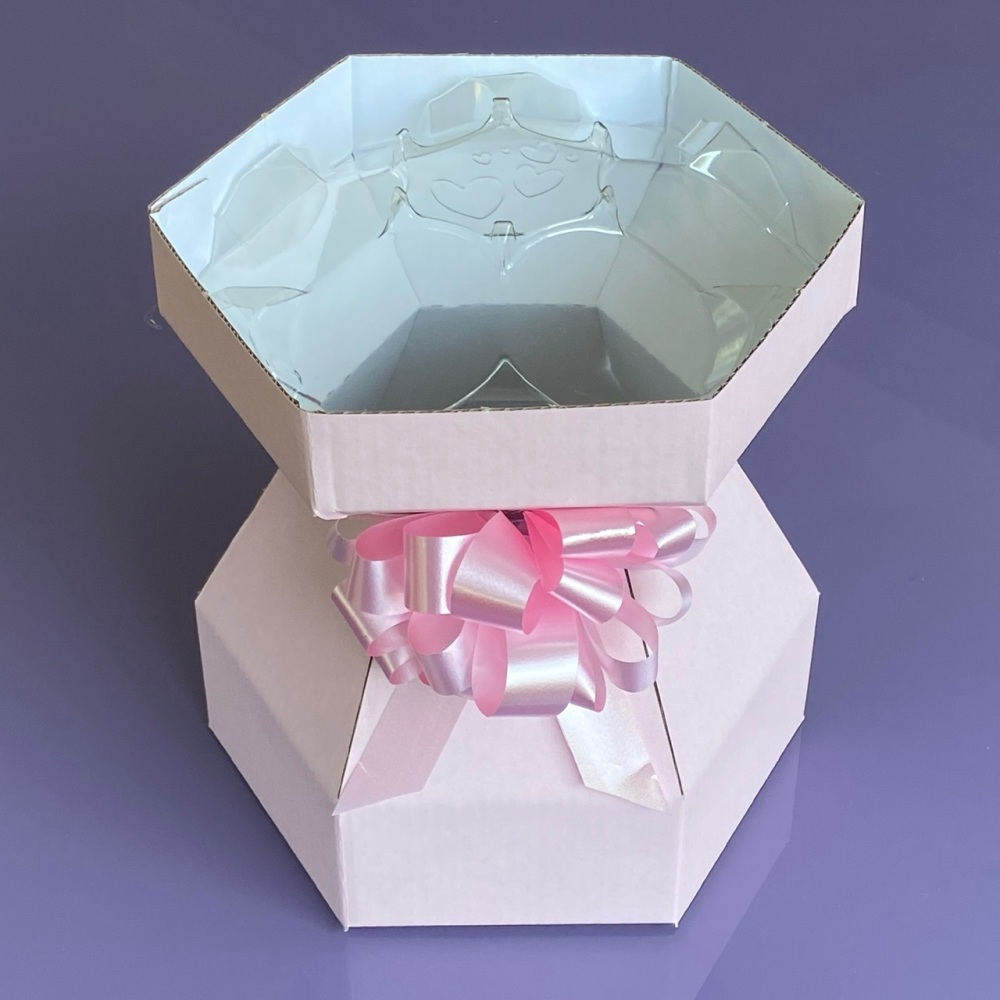 Cupcake Bouquet Box & invisiTray - Marshmallow Pink