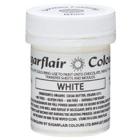 Sugarflair Chocolate Colouring Paint 35g - White