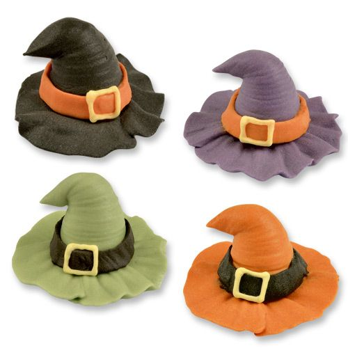 Halloween Sugar Witch Hats Pack of 4 Assorted Colours