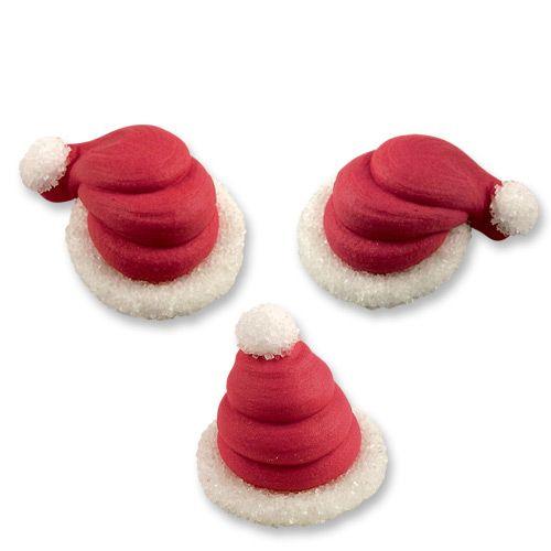 Cute Sugar Santa Hats - Pack of 6
