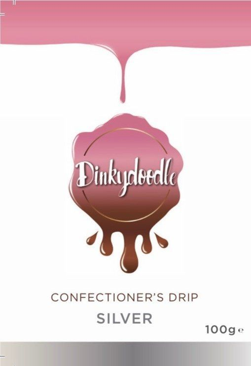 Confectioners Cake Drip 100g by Dinkydoodle - Metallic SILVER