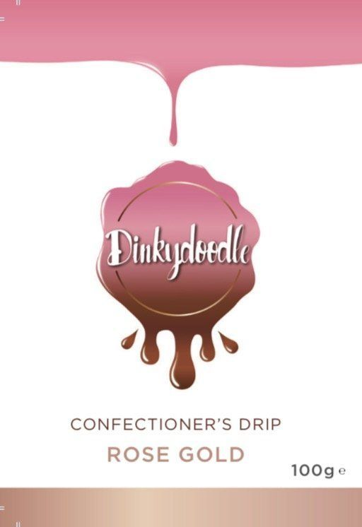 Confectioners Cake Drip 100g by Dinkydoodle - Metallic ROSE GOLD