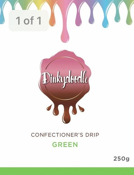 Confectioners Cake Drip 250g by Dinkydoodle - Green