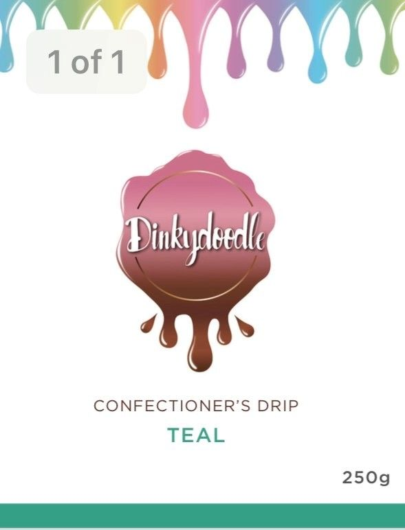 Confectioners Cake Drip 250g by Dinkydoodle - Teal