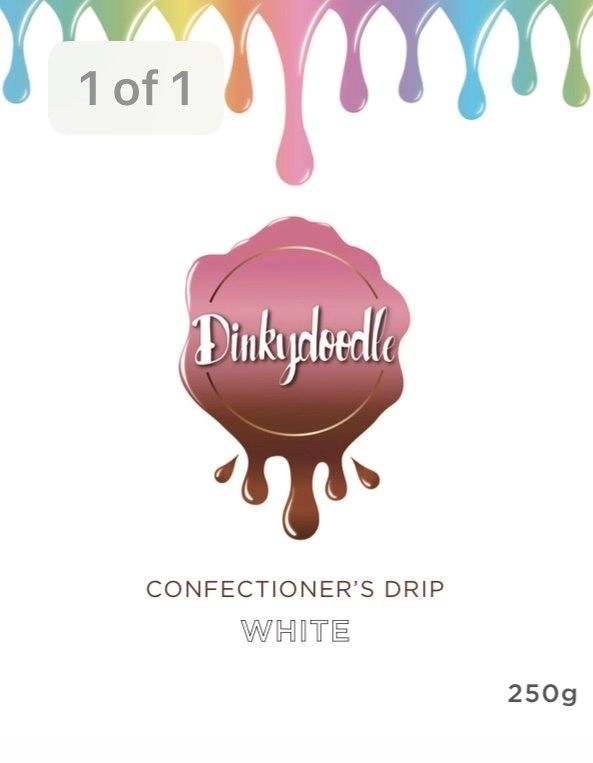 Confectioners Cake Drip 250g by Dinkydoodle - White