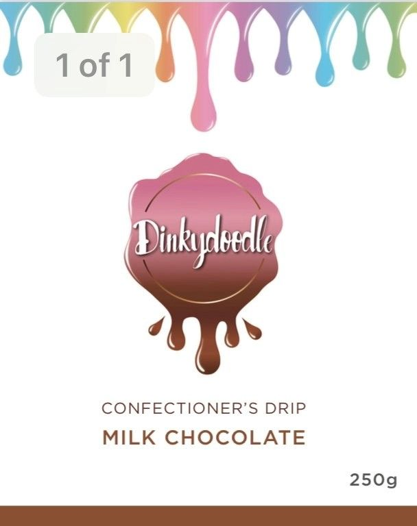 Confectioners Cake Drip 250g by Dinkydoodle - Milk Choc