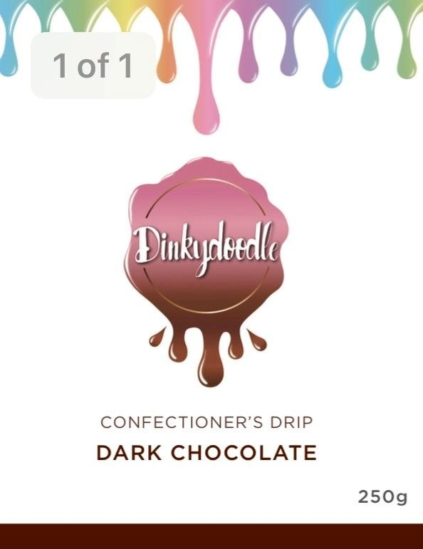 Confectioners Cake Drip 250g by Dinkydoodle - Dark Choc