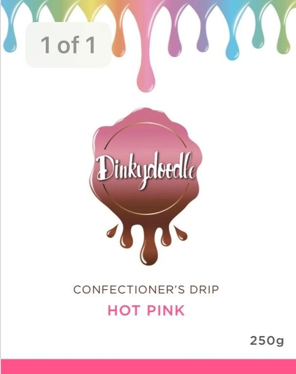 Confectioners Cake Drip 250g by Dinkydoodle - Hot Pink