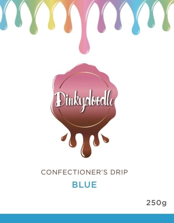 Confectioners Cake Drip 250g by Dinkydoodle - Blue