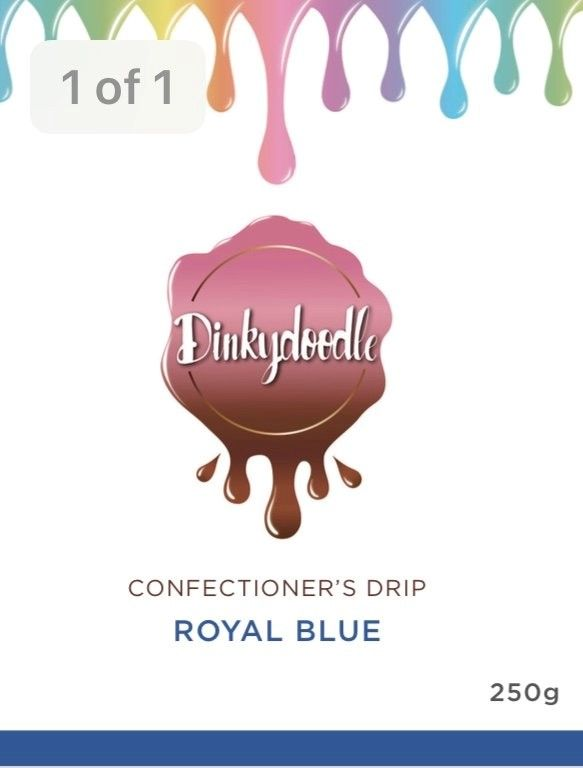 Confectioners Cake Drip 250g by Dinkydoodle - Royal Blue