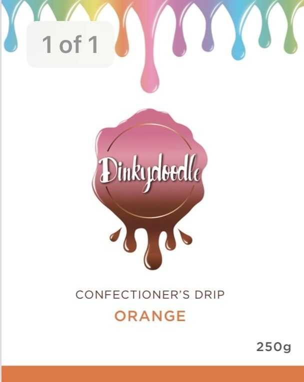 Confectioners Cake Drip 250g by Dinkydoodle - Orange