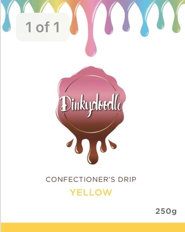 Confectioners Cake Drip 250g by Dinkydoodle - Yellow
