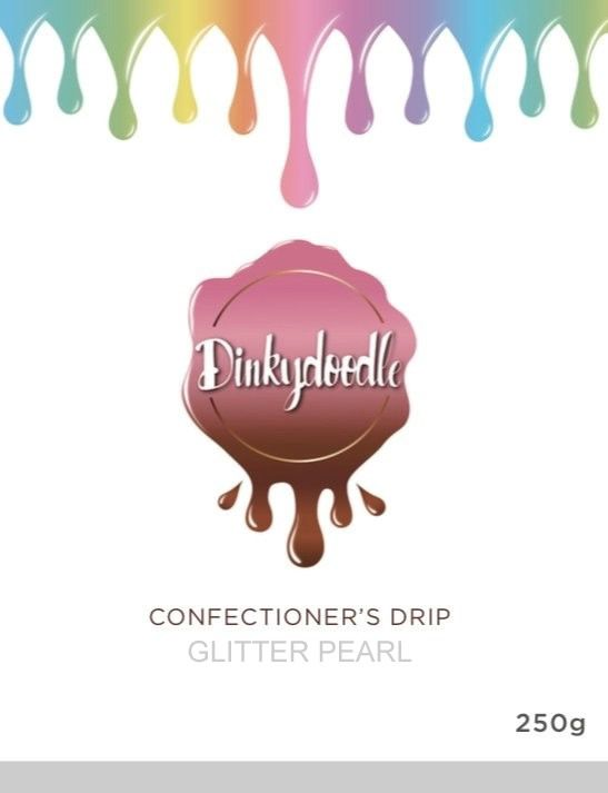 Confectioners Cake Drip 100g by Dinkydoodle - Glitter Pearl