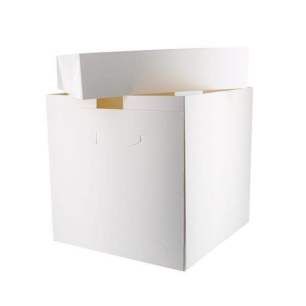 Tall Cake Boxes WHITE - Pack of 4 Single Boxes & Lids