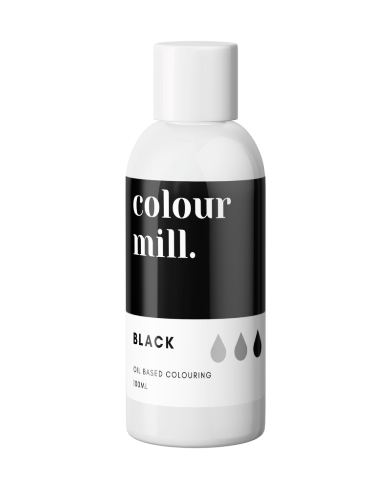 Colour Mill Oil Based Colour - BLACK 100ml