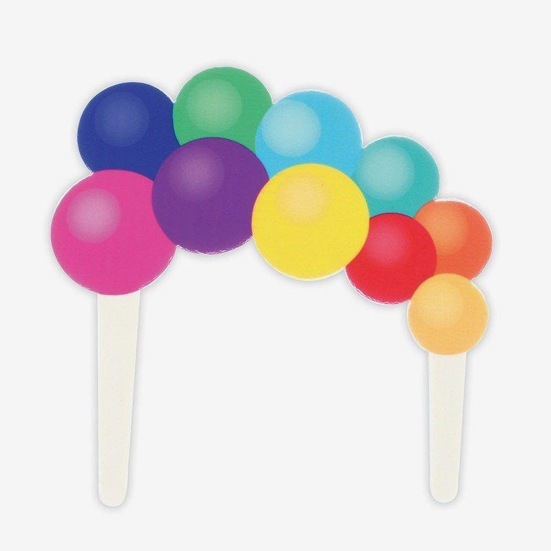 Rainbow Balloon Garland Gumpaste Cake Pic - 140 x 140mm
