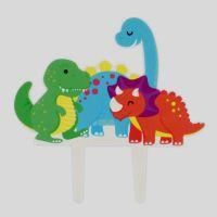 Dinosaur Garland Gumpaste Cake Pic - 140 x 140mm