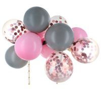Pink & Silver Balloon Cloud Cake Topper