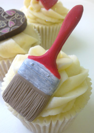 Cupcake Mould - Paint Brushes