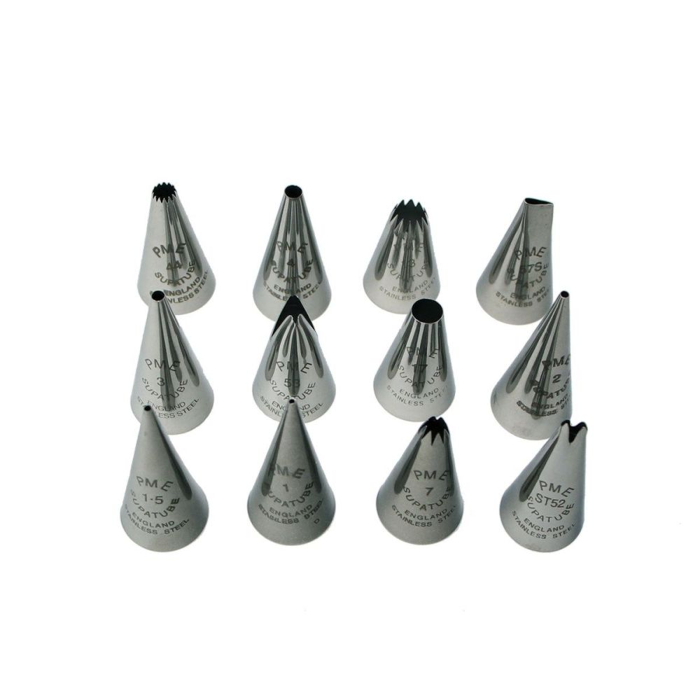 PME Nozzle Piping Tip Set Supatube Set of 12