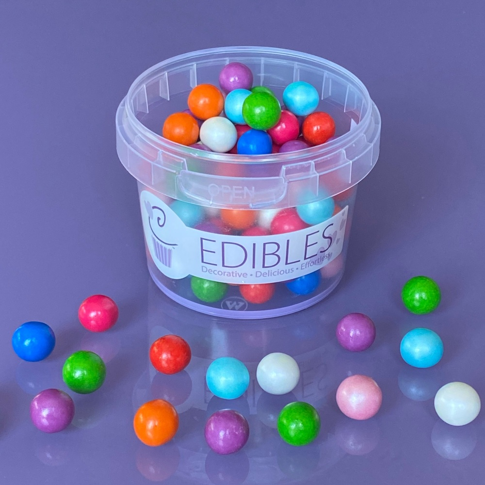 Chocolate Filled Candy Pearls 80g 10mm - CLOWNING AROUND