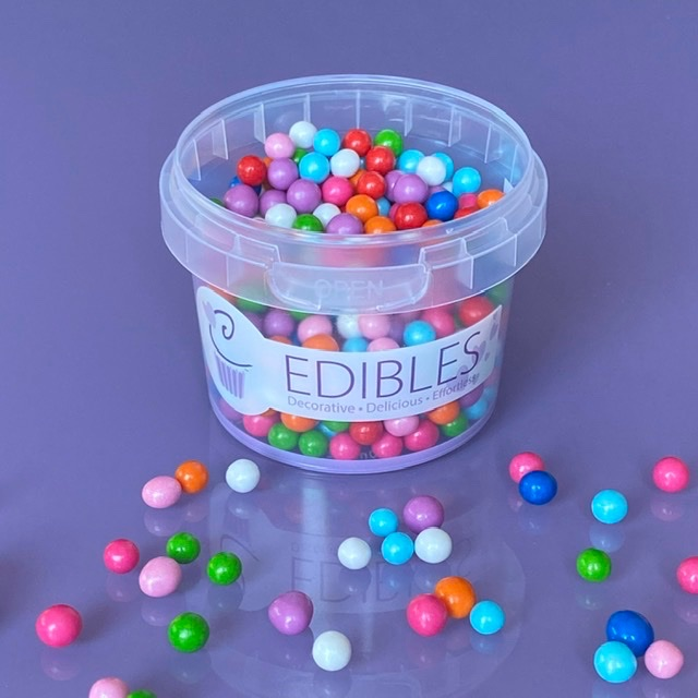 Chocolate Filled Candy Pearls 80g 6mm - CLOWNING AROUND