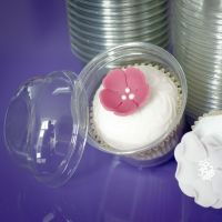 Clear Cupcake Pod & Lid x 25