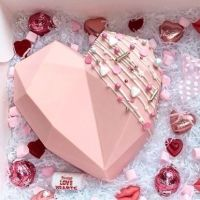 Geometric Cake Heart Mould - Geo Cake Hearts - Large - 1 heart mould