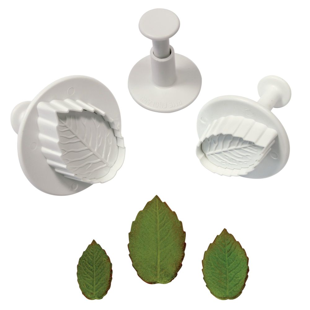 PME Veined Rose Leaf Set of 3