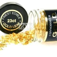 Edible Gold Leaf FLAKES 100mg pot - 23ct Small Flakes