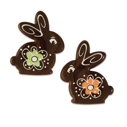 Dark Chocolate Easter Bunnies Assorted Colours (Pack of 8)