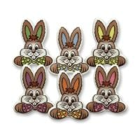 Bunny Faces Pack of 5 Assorted Colours (Printed Decorations)