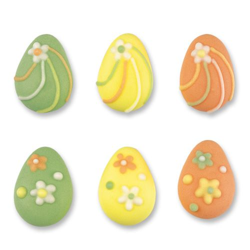 Sugar Easter Eggs Assorted Colours (Pack of 12)