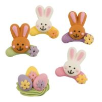 Sugar Easter Eggs & Easter Bunny Rabbits Assorted Colours (Pack of 8)