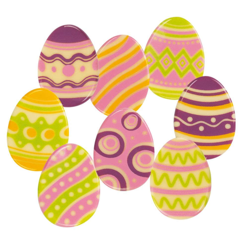 White Chocolate Easter Eggs Pack of 6 Assorted