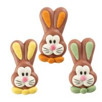 Sugar Easter Bunny Large FACES Assorted Colours (Pack of 6)