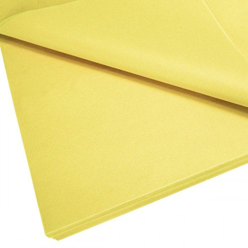 Cupcake Bouquet Box Accessory - Tissue Paper Pack - Yellow
