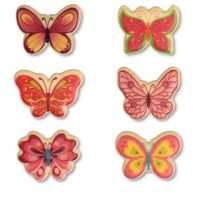 White Chocolate Butterfly Decorations Pack of 12